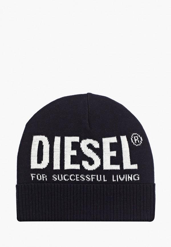 мужская шапка diesel, синяя