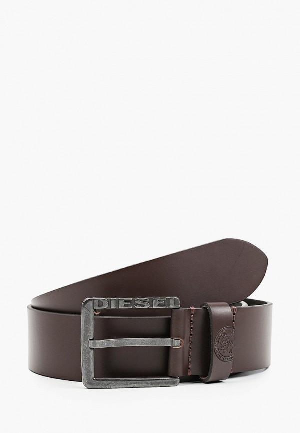 мужской ремень diesel, коричневый