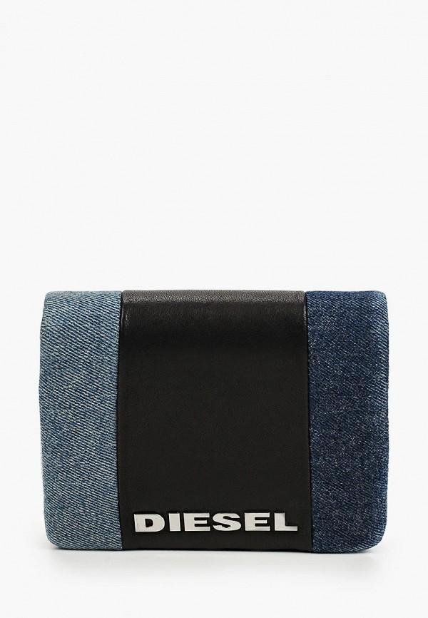 женский кошелёк diesel, синий