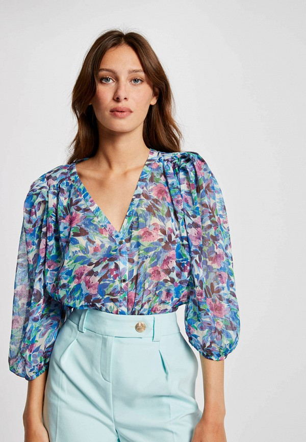 женская блузка morgan, синяя