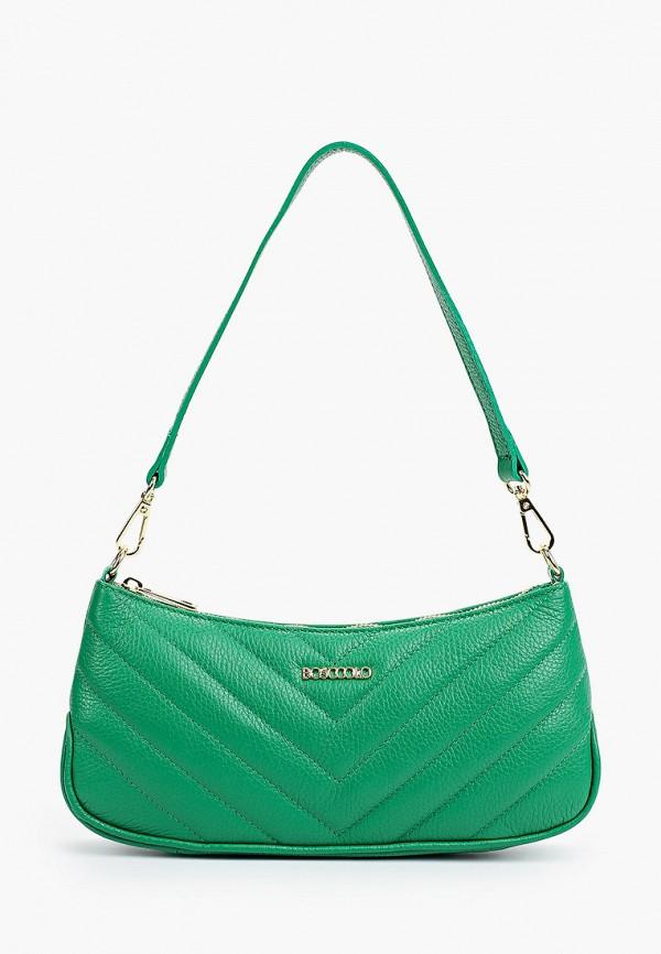 женская сумка с ручками bosccolo, зеленая
