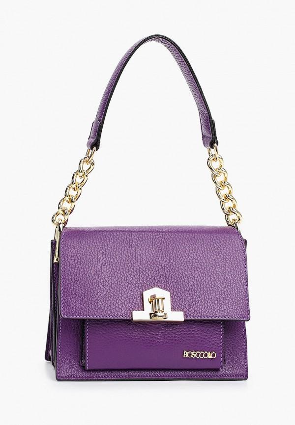 женская сумка с ручками bosccolo, фиолетовая