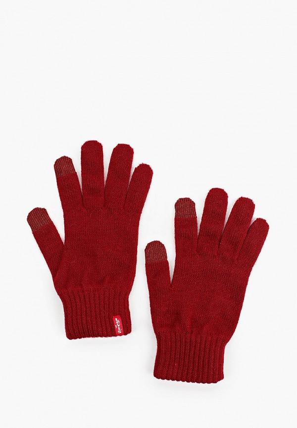 женские текстильные перчатки levi's®, бордовые