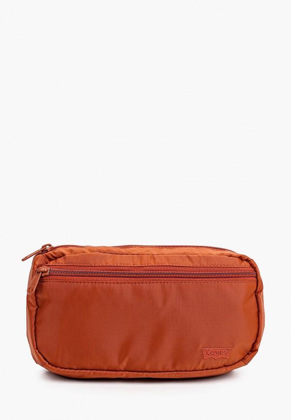 женская поясные сумка levi's®, коричневая