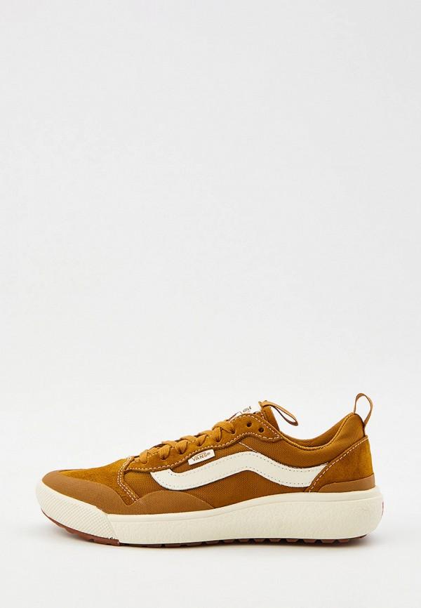 женские низкие кроссовки vans, коричневые