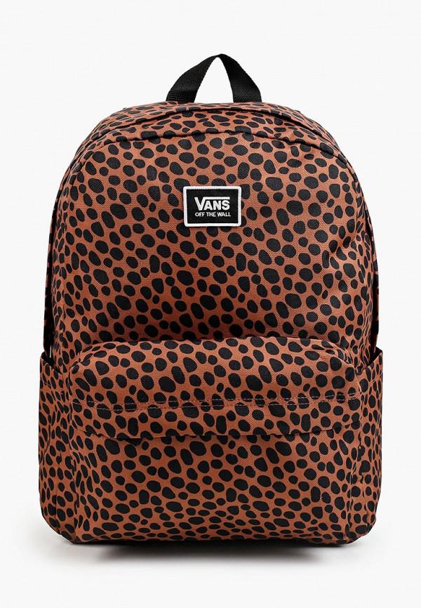 женский рюкзак vans, коричневый