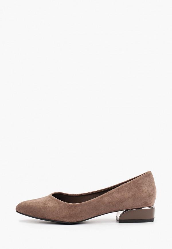 женские туфли с закрытым носом betsy, коричневые