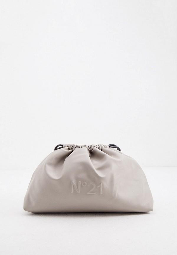 женский кошелёк через плечо n21, серый