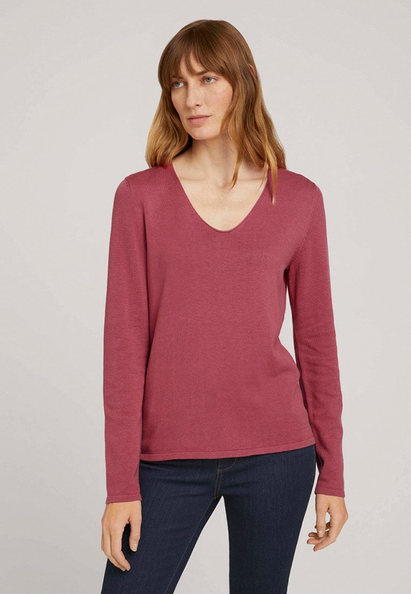женский пуловер tom tailor, розовый
