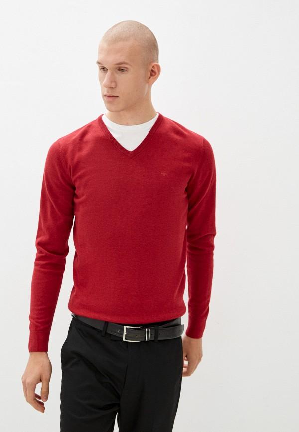 мужской пуловер tom tailor, бордовый
