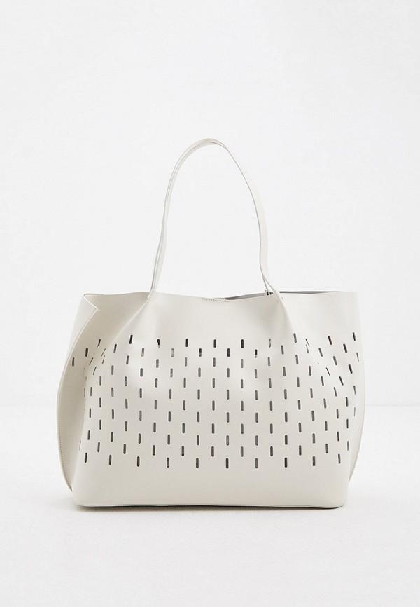 женский кошелёк-шоперы coccinelle, серый