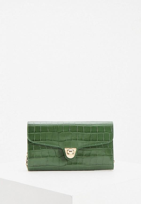 женский клатч coccinelle, зеленый