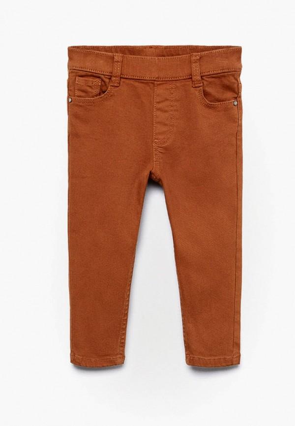 брюки mango kids для мальчика, оранжевые