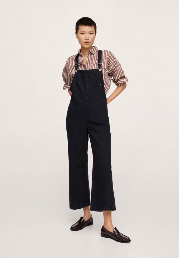 женский джинсовые комбинезон mango, черный