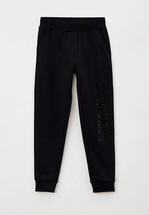 спортивные брюки monnalisa для девочки, черные