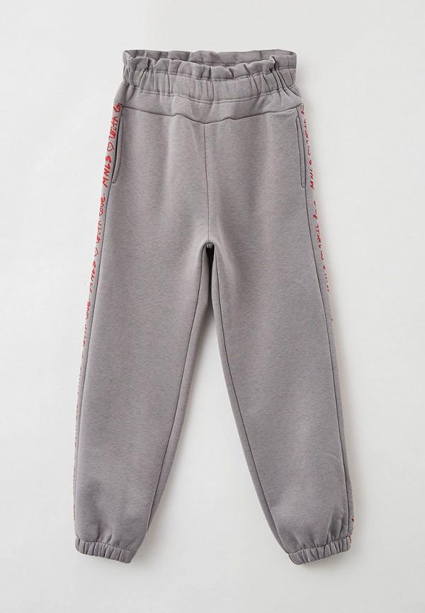 спортивные брюки monnalisa для девочки, серые