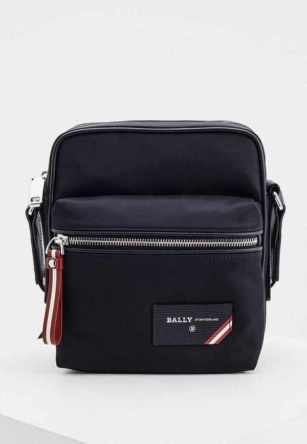 мужская сумка через плечо bally, черная