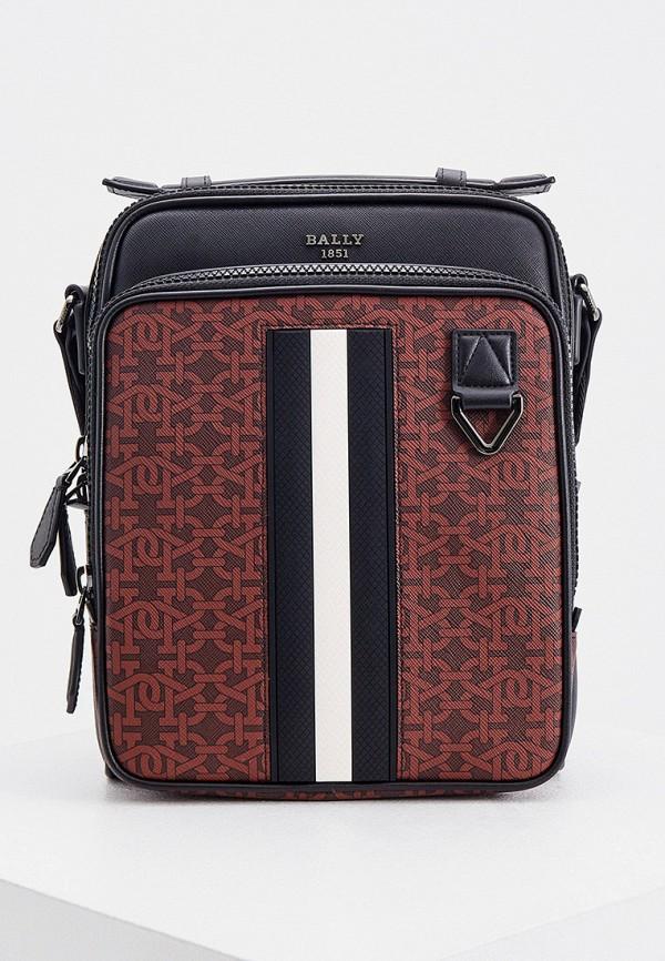 мужская сумка с ручками bally, разноцветная