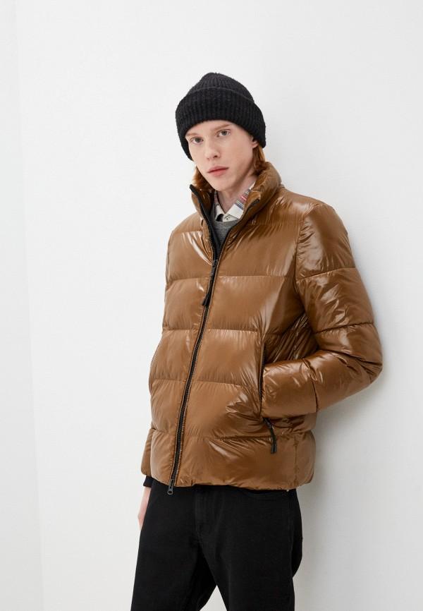 мужская утепленные куртка geox, коричневая