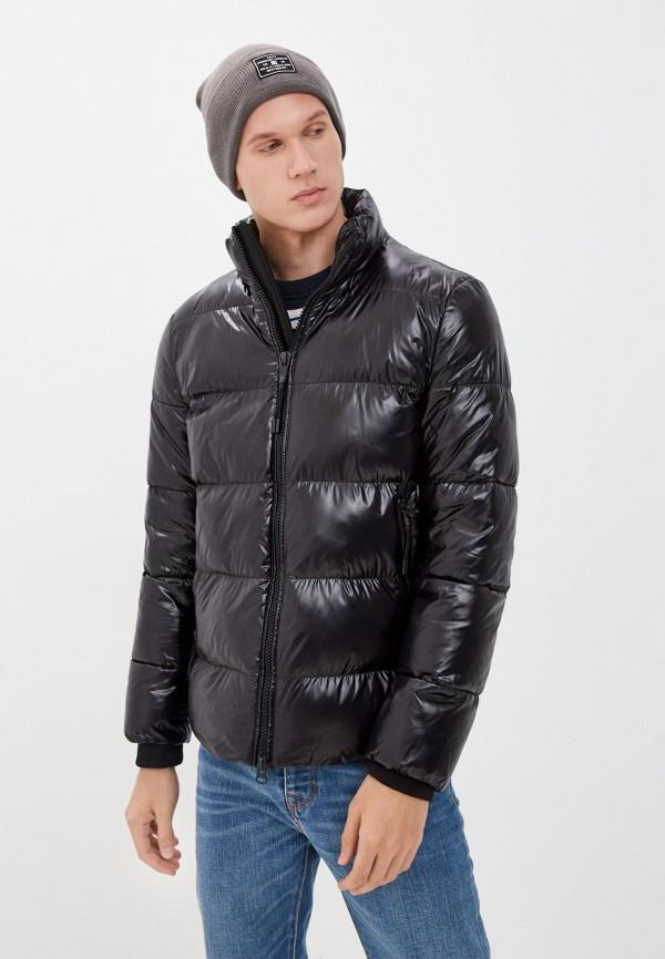 мужская утепленные куртка geox, черная