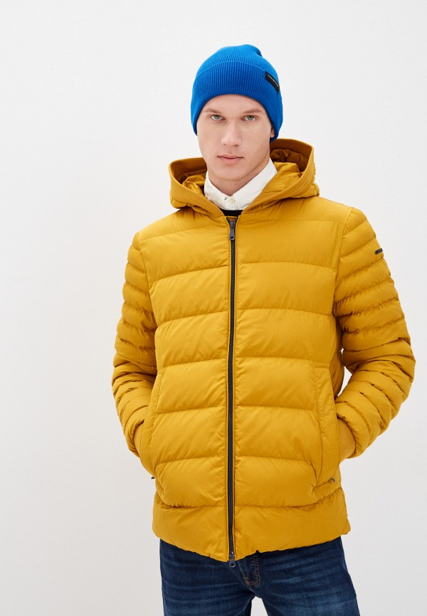 мужская утепленные куртка geox, желтая