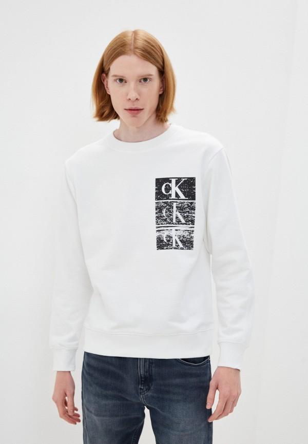 мужской свитшот calvin klein, белый