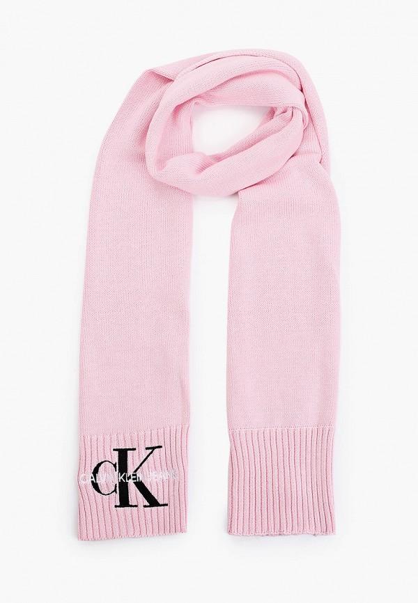 женский шарф calvin klein, розовый