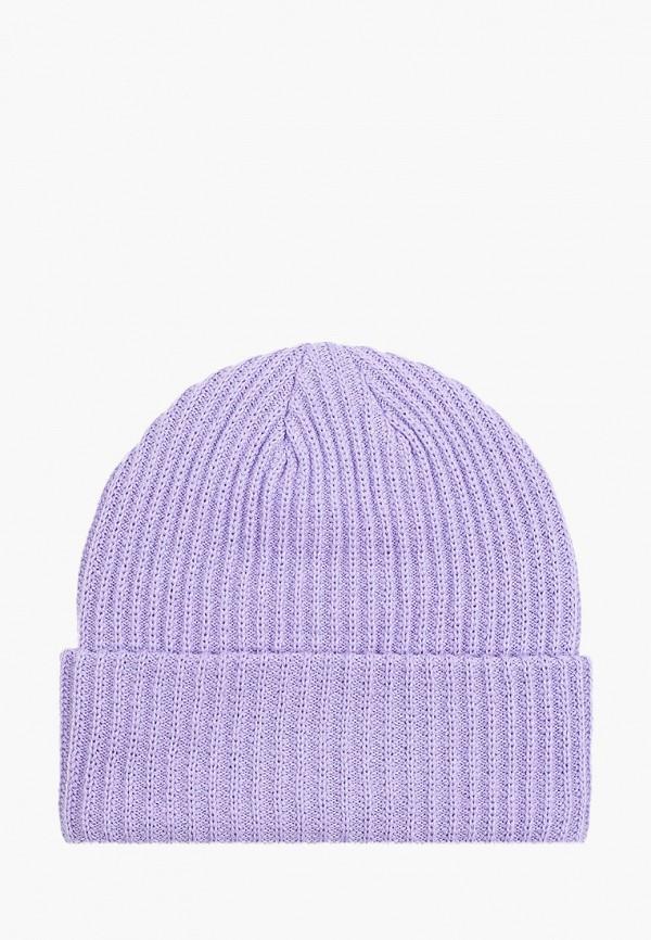 женская шапка pieces, фиолетовая