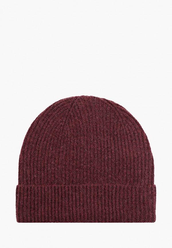 женская шапка pieces, бордовая