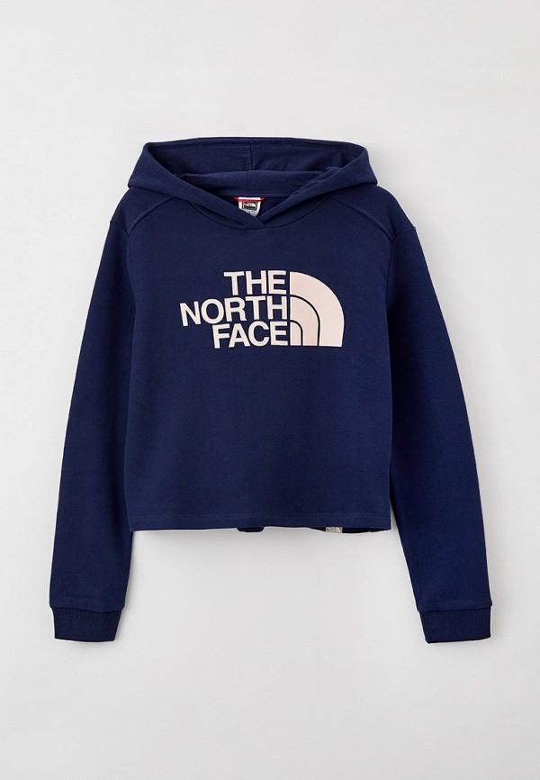 худи the north face для девочки, синие