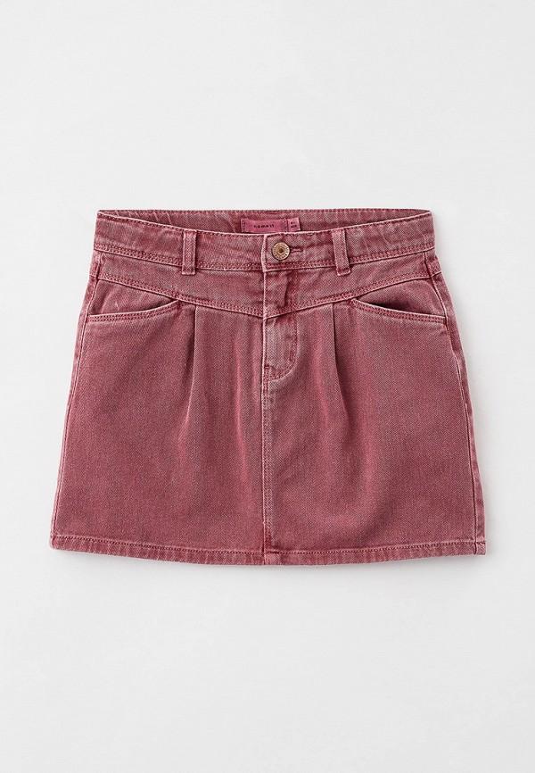 джинсовые юбка name it для девочки, розовая