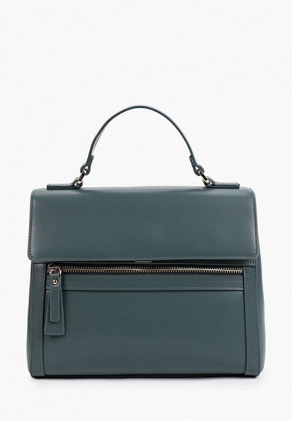 женская сумка с ручками fabretti, зеленая