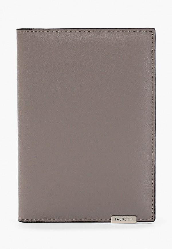 Обложка для документов Fabretti серого цвета
