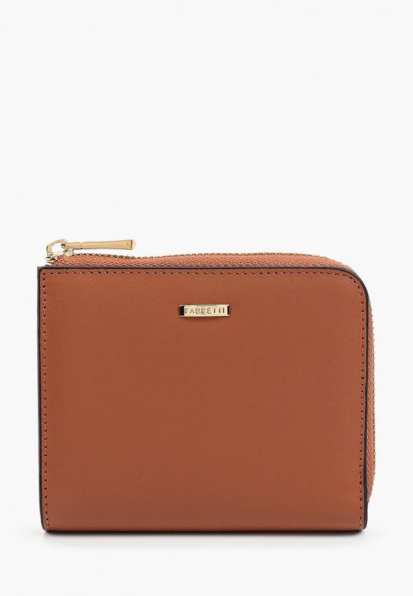женский кошелёк fabretti, коричневый