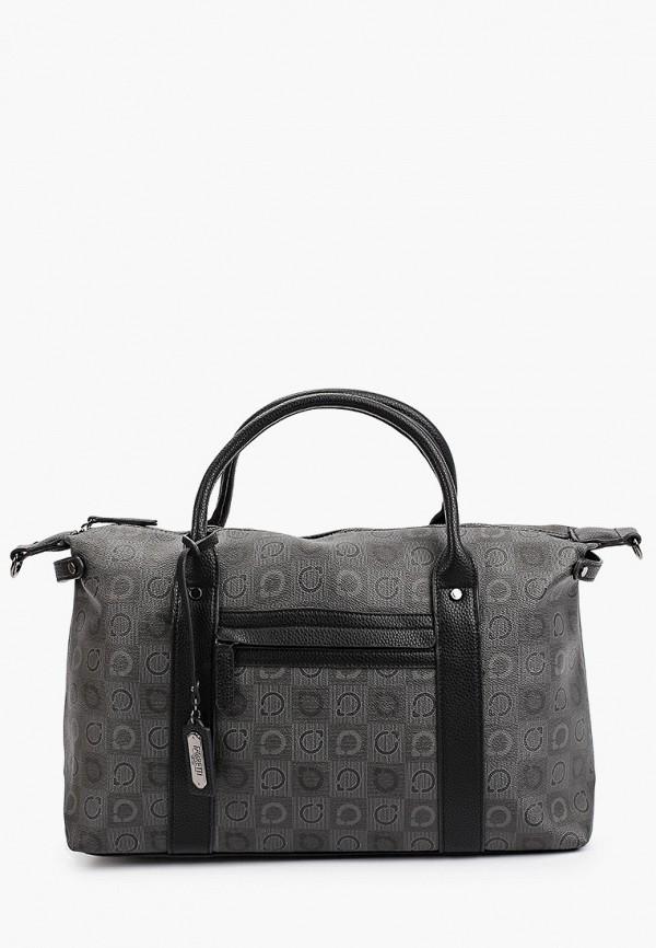 женская дорожные сумка fabretti, серебряная