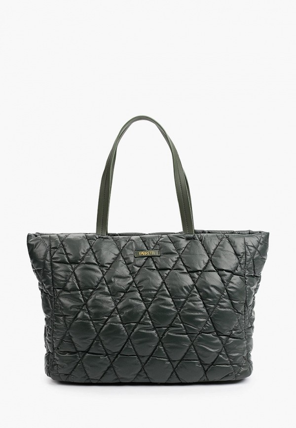 женская сумка-шоперы fabretti, хаки
