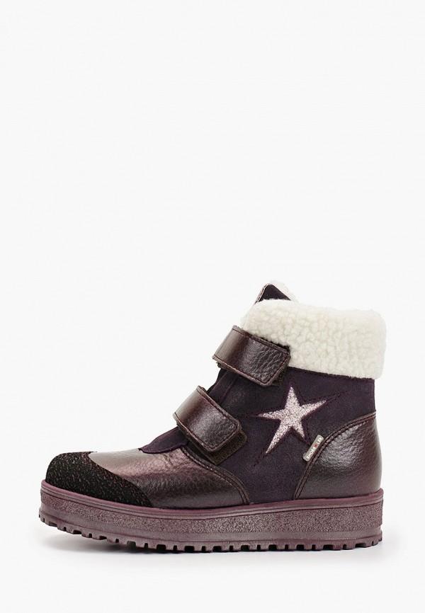 ботинки лель для девочки, бордовые