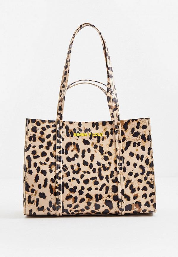 женская сумка с ручками bimba y lola, бежевая