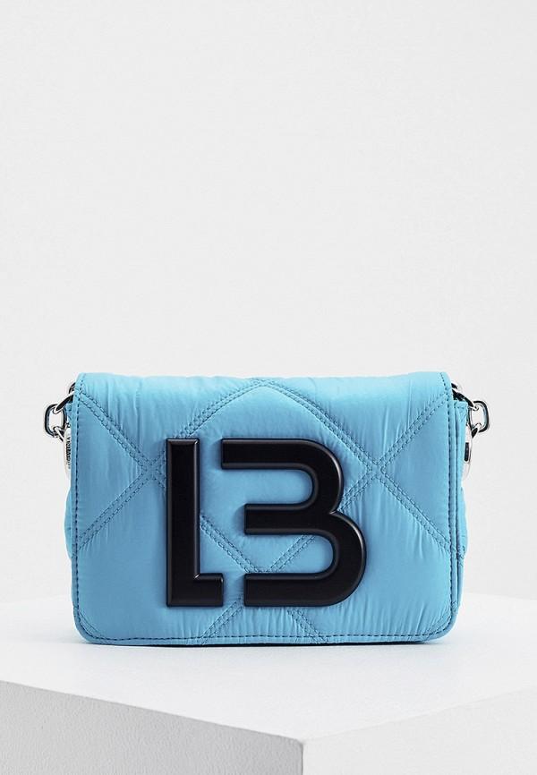 женская сумка через плечо bimba y lola, голубая