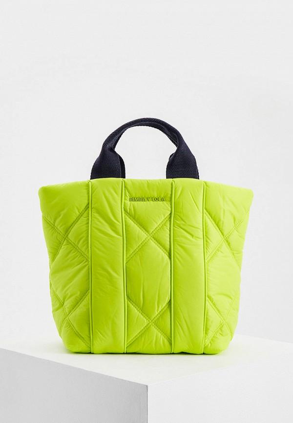 женская сумка с ручками bimba y lola, зеленая
