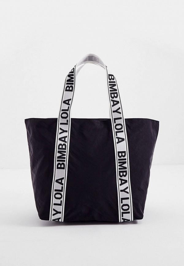 женская сумка-шоперы bimba y lola, черная
