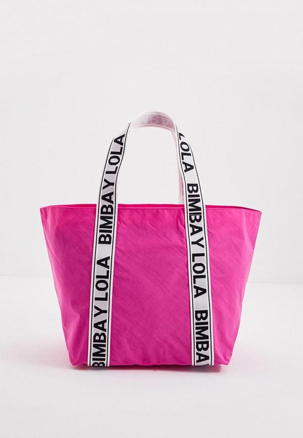 женская сумка-шоперы bimba y lola, розовая