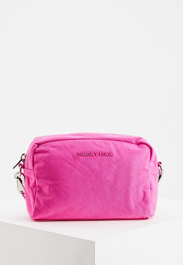 женская сумка через плечо bimba y lola, розовая