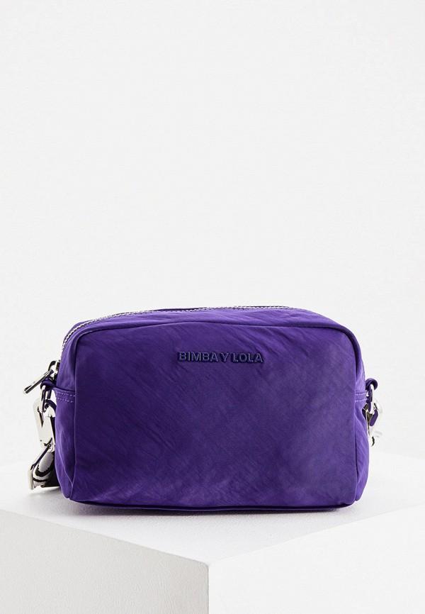 женская сумка через плечо bimba y lola, фиолетовая