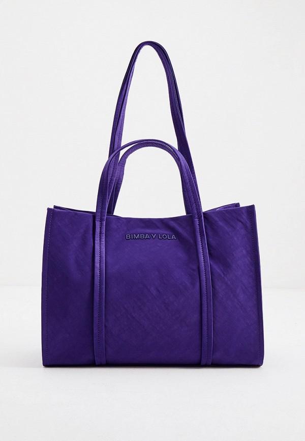женская сумка-шоперы bimba y lola, фиолетовая