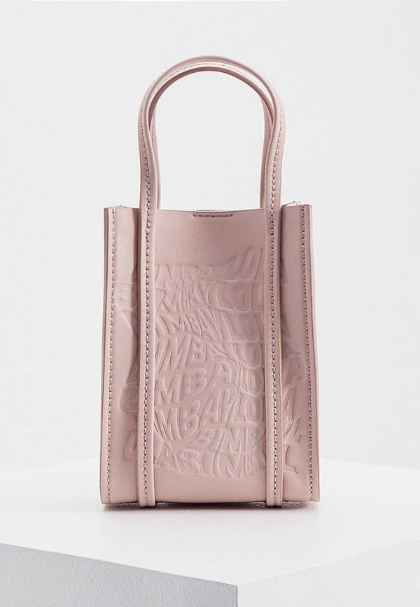 женская сумка с ручками bimba y lola, розовая