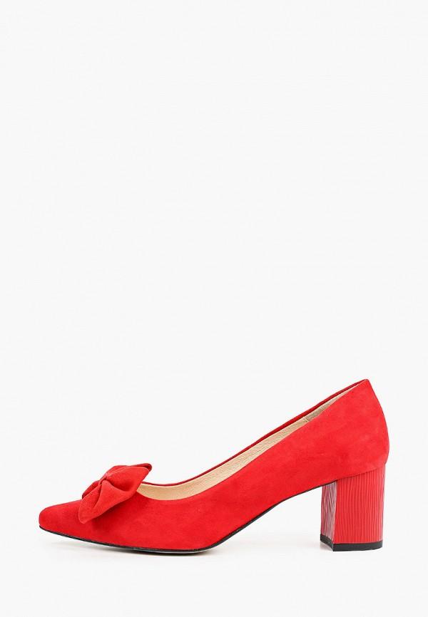 женские туфли с закрытым носом bosccolo, красные