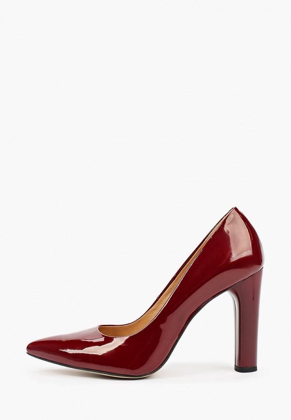 женские туфли с закрытым носом bosccolo, бордовые