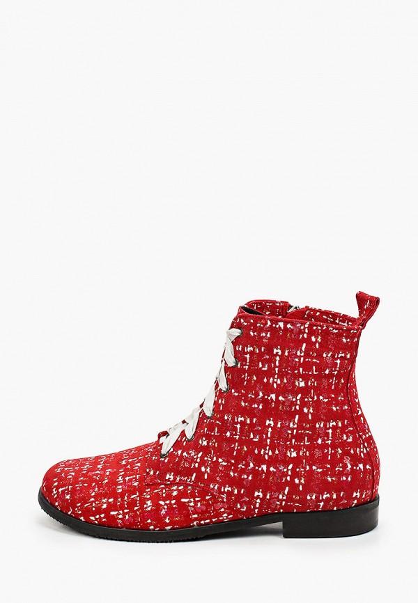 женские высокие ботинки bosccolo, красные
