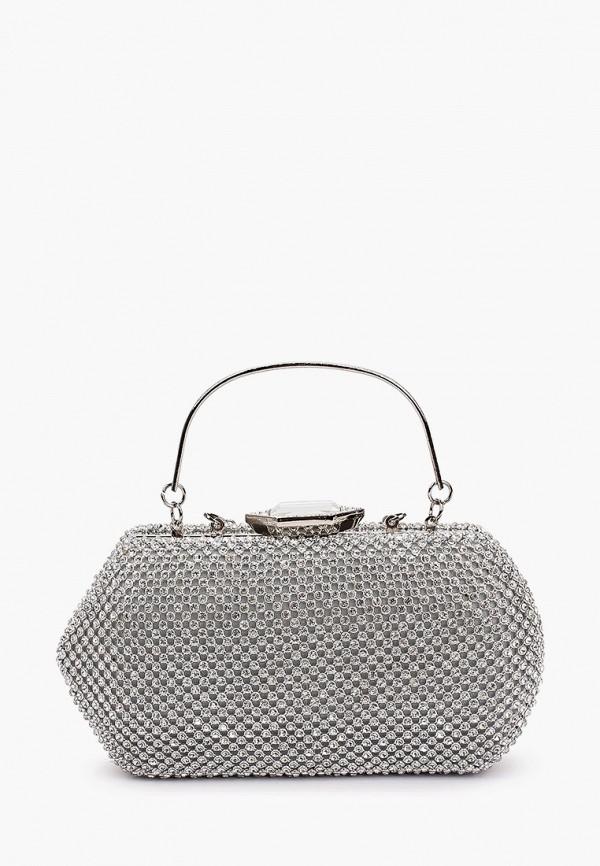 женская сумка с ручками isabella rhea, серебряная